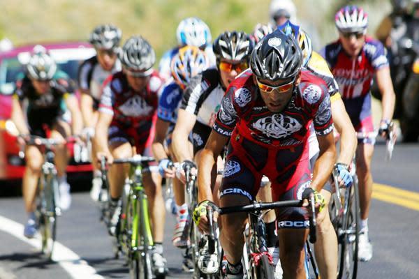 Cesar Grajales (Rock Racing) riding at Tour of Utah in 2008