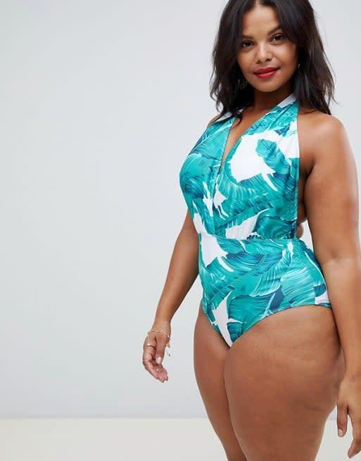 "<p>You can easily slip the halter neckline of this <a rel=""nofollow"" href=""https://www.popsugar.com/buy/Unique21%20Hero%20Halterneck%20Swimsuit-406960?p_name=Unique21%20Hero%20Halterneck%20Swimsuit&retailer=us.asos.com&price=32&evar1=moms%3Aus&evar9=45937901&evar98=https%3A%2F%2Fwww.popsugar.com%2Ffamily%2Fphoto-gallery%2F45937901%2Fimage%2F45937905%2FUnique21-Hero-Halterneck-Swimsuit&list1=shopping%2Csummer%2Cswimwear%2Casos%2Cspring%20fashion%2Csummer%20fashion%2Cswimsuits%2Ccurvy%20fashion&prop13=mobile&pdata=1"" rel=""nofollow"">Unique21 Hero Halterneck Swimsuit </a> ($32, originally $43) to the side for easy nursing.</p>"