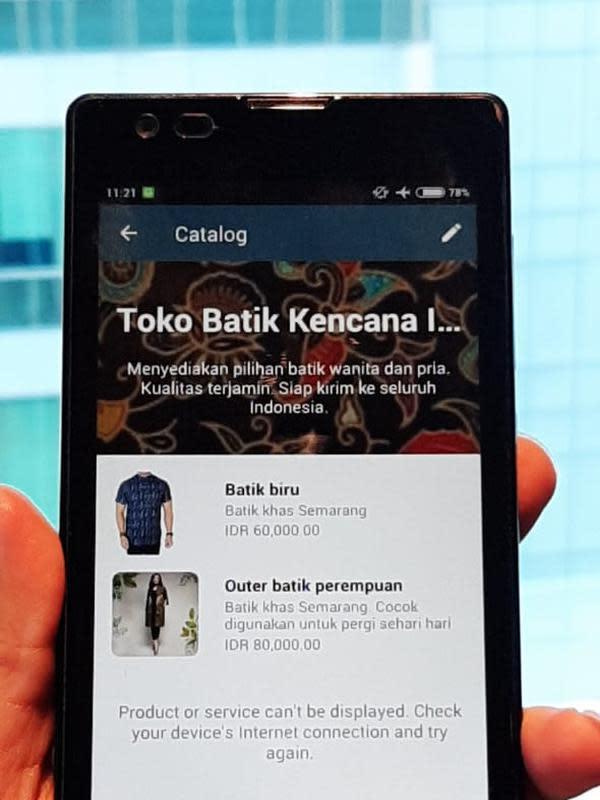 Contoh tampilan Katalog pada WhatsApp Business | Karla farhana/Fimela.com