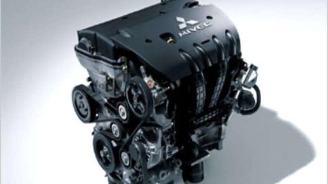 Ilustrasi mesin mobil Mitsubishi