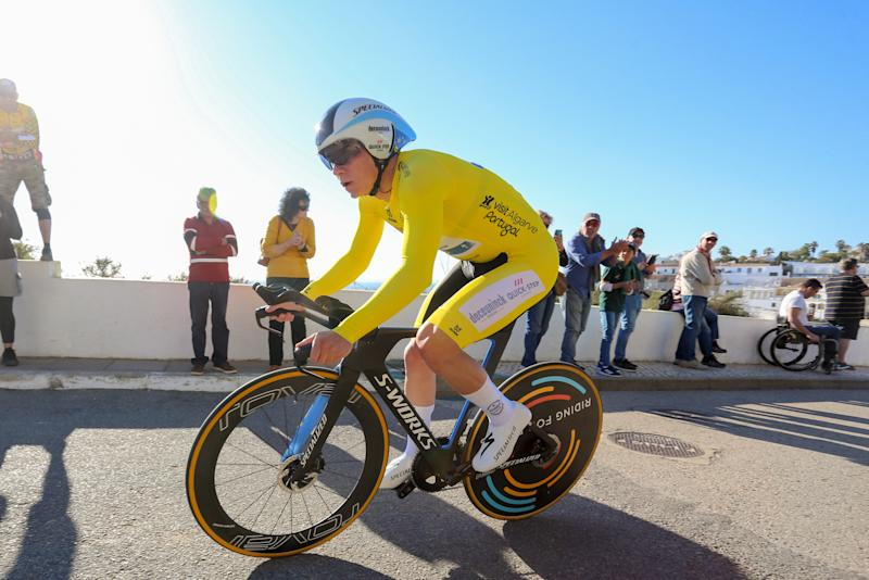 Race leader Remco Evenepoel (Deceuninck-QuickStep) powers to victory on the stage 5 time trial at the 2020 Volta ao Algarve