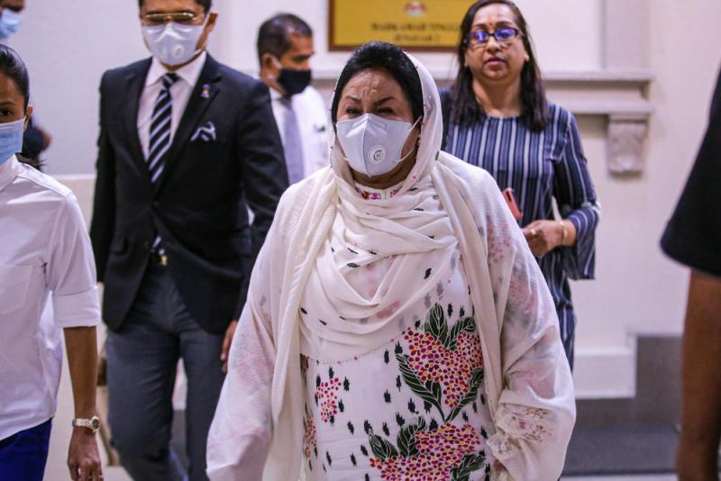 Datin Seri Rosmah Mansor is pictured at the Kuala Lumpur High Court September 7, 2020. — Picture by Hari Anggara