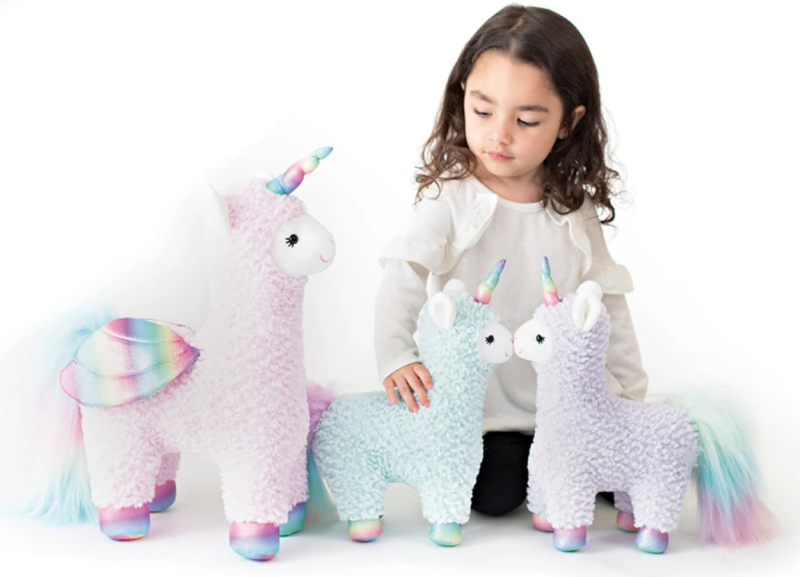 Get ready: The llamacorn's coming to town. (Photo: Gund)