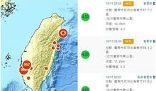 台南一晚連3震 氣象局:一週內恐有餘震