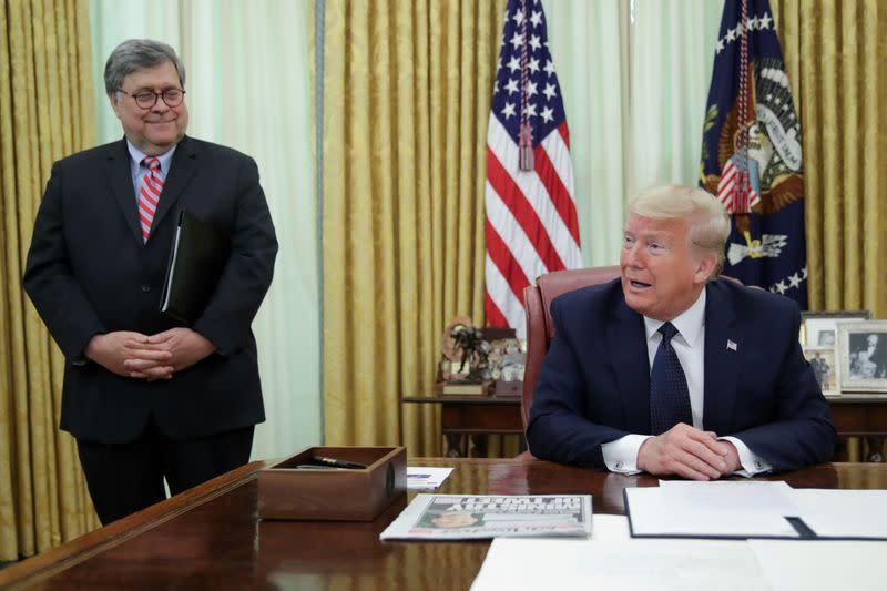 U.S. President Trump signs executive order regarding social media companies at the White House in Washington