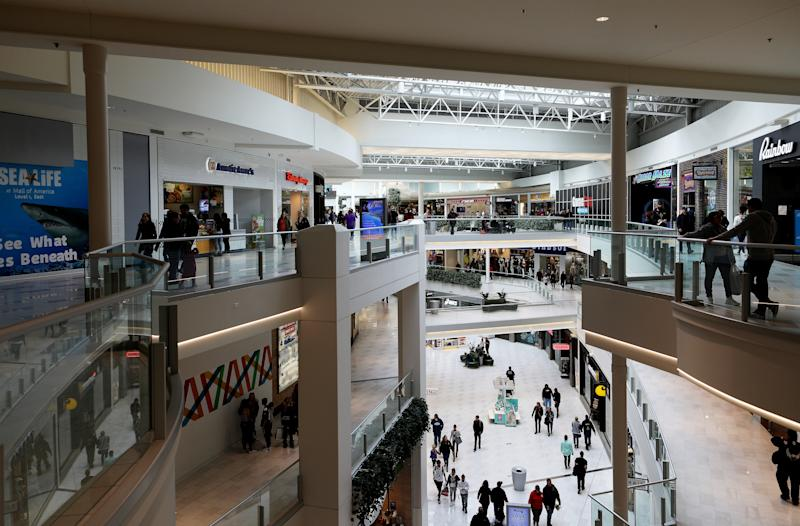 The boy was thrown from the third-floor balcony at the Mall of America.