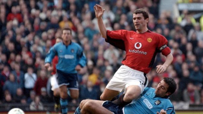 Mantan kapten Manchester United, Roy Keane. (AFP/Paul Barker)