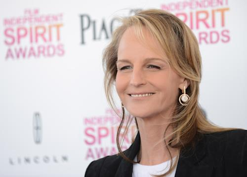 Actress Helen Hunt arrives at the Independent Spirit Awards on Saturday, Feb. 23, 2013, in Santa Monica, Calif. (Photo by Jordan Strauss/Invision/AP)