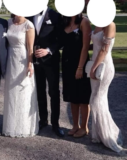 The two women's dresses were only distinguishable by the neckline. Photo: Facebook