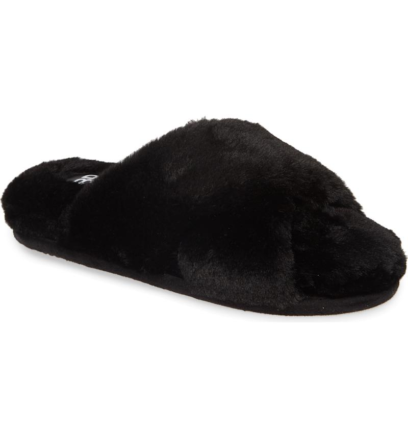 BP. Sophie Criss Cross Plush Bedroom Slipper