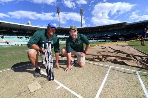 Sydney Cricket Ground (SCG) curators Adam Lewis (left) and Justin Groves prepare their pitches with meticulous care and no little science