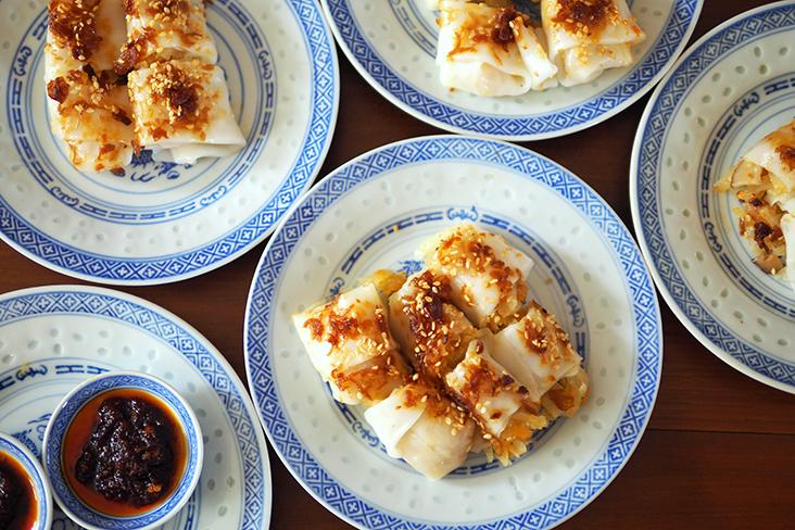 The stuffed 'chee cheong fun' is a super delicious bite with fried shallots, sesame seeds giving the smooth rolls a lovely flavour — Pictures by Lee Khang Yi