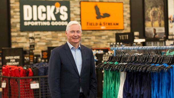 PHOTO: Chairman and CEO of DICK'S Sporting Goods Edward W. Stack visits a new store at the Baybrook Mall in Houston, Oct. 18, 2016. (Scott Dalton/Invision for DICK'S Sporting Goods/AP)