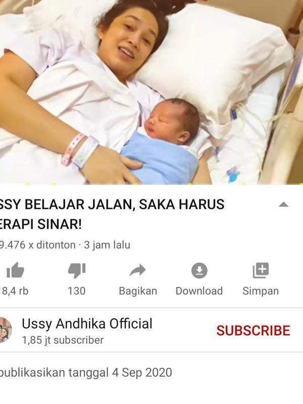 Unggahan Ussy Sulistiawaty. (Foto: YouTube Ussy Andhika Official)