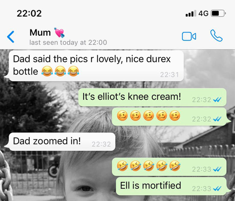 The text message exchange between Kelsey and her mum revealed she had been busted. Source: _kelspoole_ / Twitter