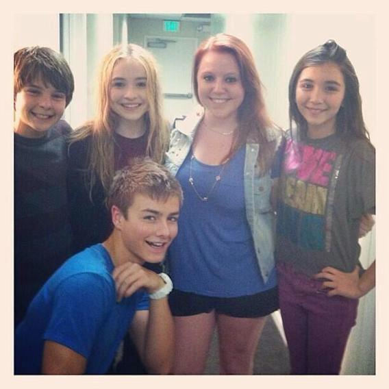 Back when we were filming the pilot! #GMW #GirlMeetsWorld @rowblanchard @SabrinaAnnLynn @peytonmeyer9