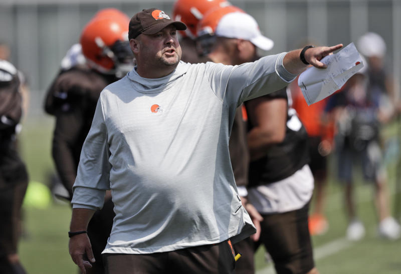 Former Cleveland Browns offensive line coach Bob Wylie said he was surprised Freddie Kitchens, above, was named the team's head coach. (AP)