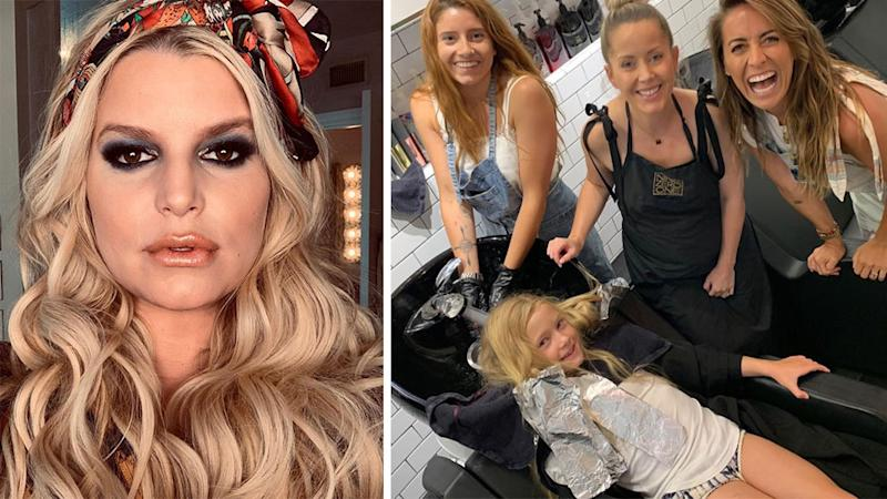 Pink Backs Jessica Simpson Who was Mom-Shamed for Dying Daughter's Hair