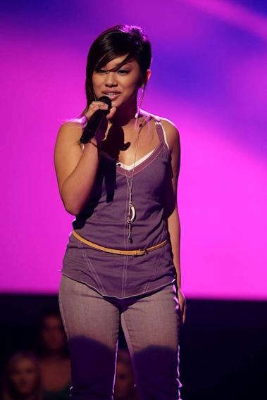 Ramiele Malubay performs as one of the top 20 contestants on the 7th season of American Idol.