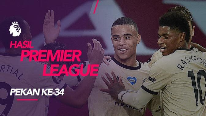MOTION GRAFIS: Hasil Premier League Pekan 34, Manchester United Masih Tertahan di Posisi 5