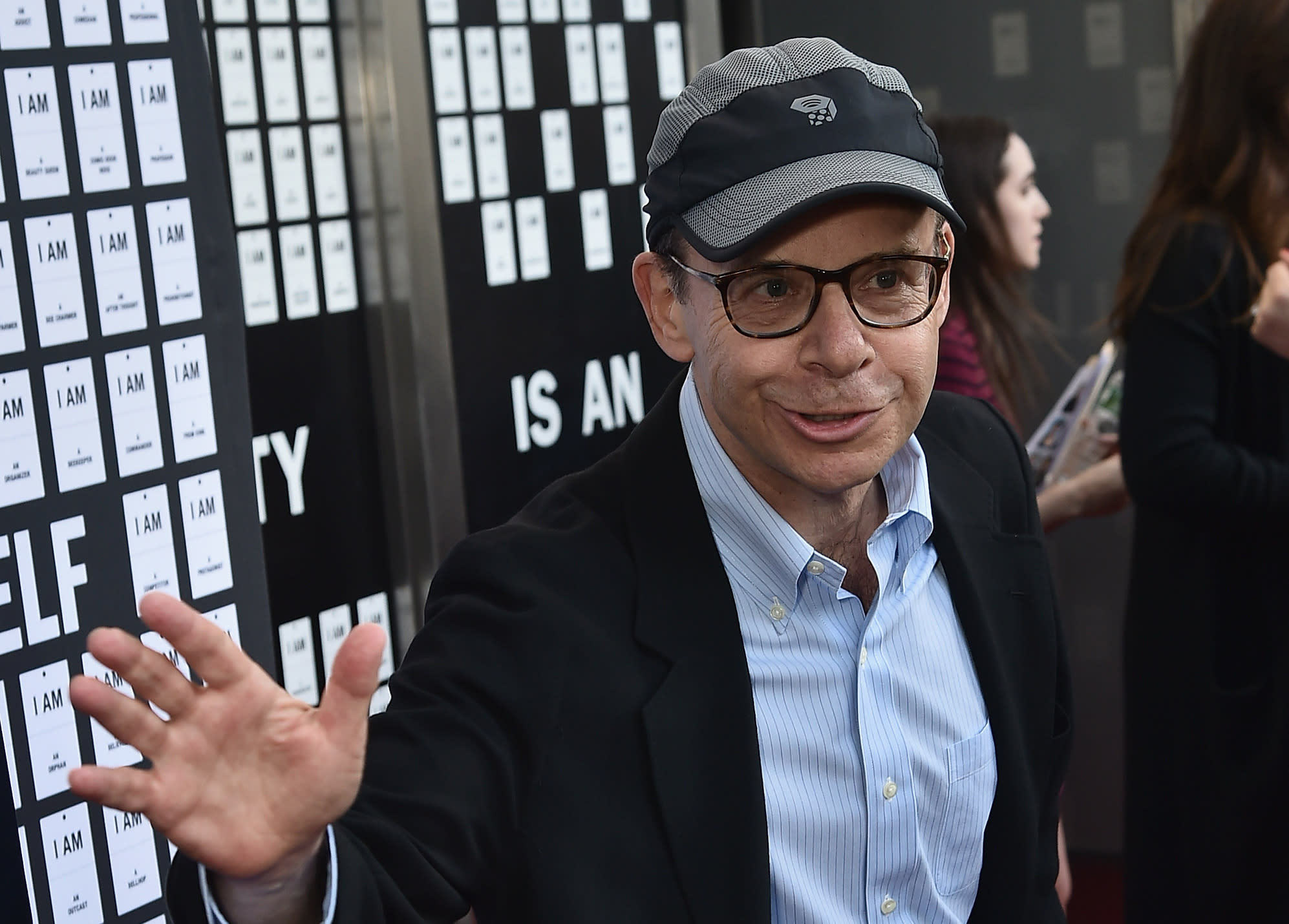 """Rick Moranis attends """"In & Of Itself"""" opening night on April 12, 2017. (Photo by Theo Wargo/Getty Images)"""
