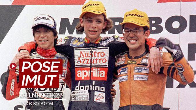 VIDEO TikTok Bola.com: 4 Pose Imut Bintang MotoGP, Valentino Rossi Saat Muda