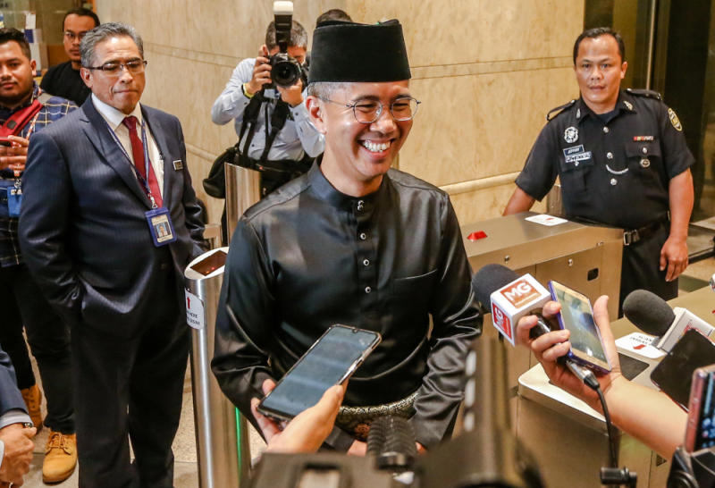 Tengku Zafrul is confident liquidity is still present in Malaysia's financial markets. — Picture by Firdaus Latif