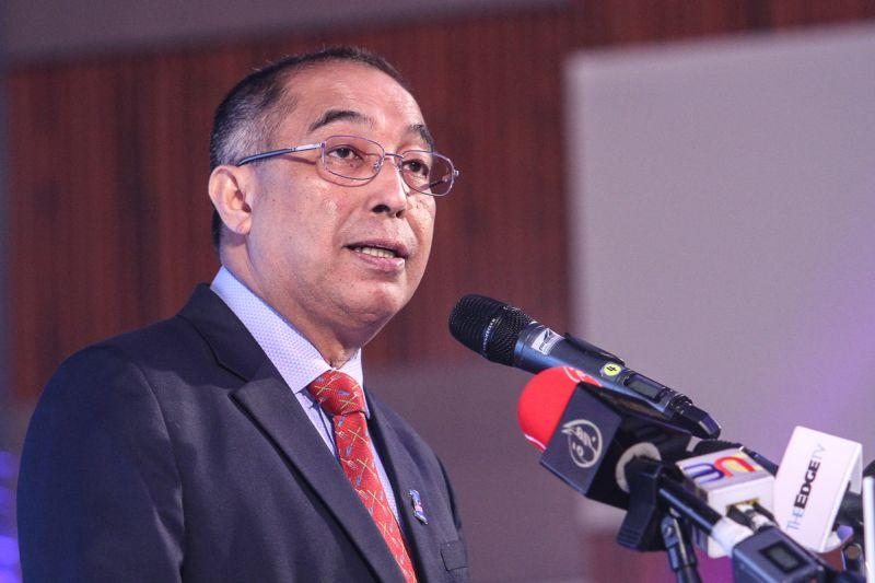 Datuk Seri Salleh Said Keruak is contesting the Usukan seat on an Umno ticket in the Sabah state election. ― Picture by Shafwan Zaidon