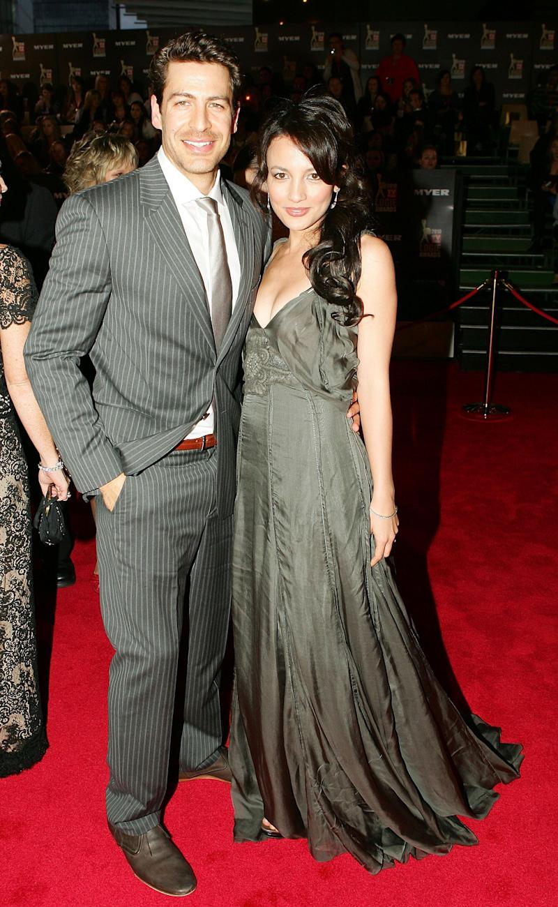 Pictured with husband Don Hany at the 2010 Logie Awards. Photo: Getty