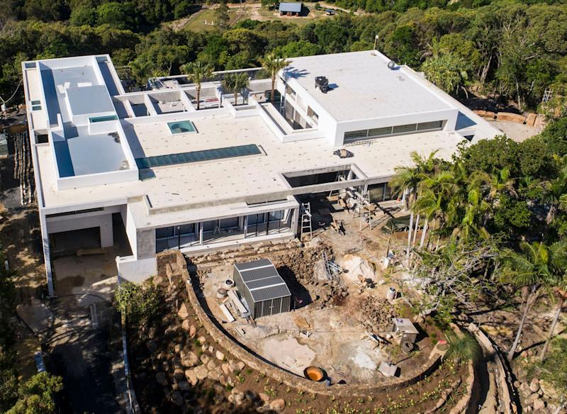 Aerials of Chris Hemsworth's Broken Head home in byron bay