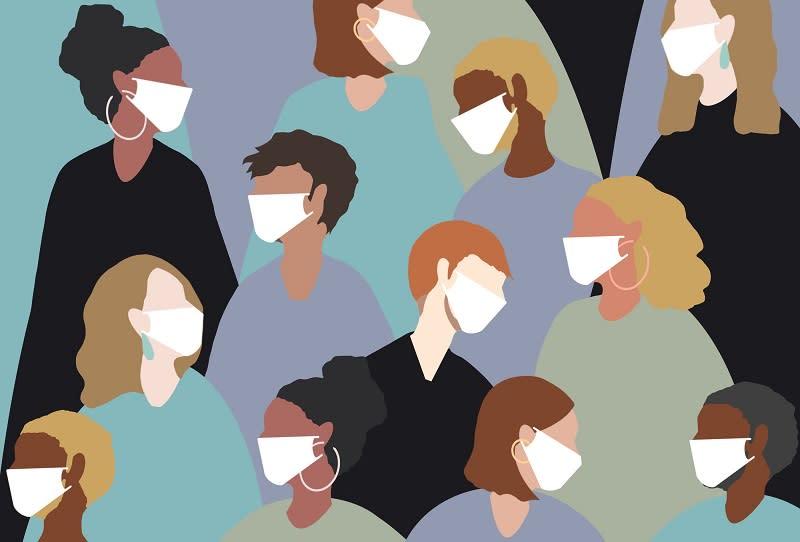 winter, virus, coronavirus, medical mask, face mask, china virus, group, people, women, man, sick, heat, people, hot