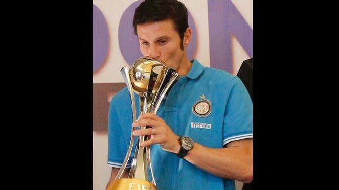 Javier Zanetti Saat Jumpa Pers Inter Milan di Hotel Mulia, Jakarta