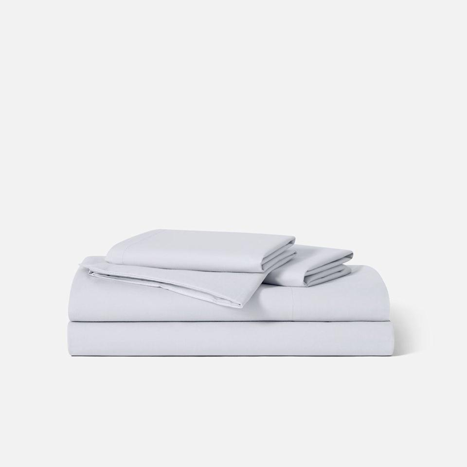 "<p><strong>Brooklinen</strong></p><p>brooklinen.com</p><p><strong>$129.00</strong></p><p><a href=""https://go.redirectingat.com?id=74968X1596630&url=https%3A%2F%2Fwww.brooklinen.com%2Fproducts%2Fclassic-core-sheet-set&sref=https%3A%2F%2Fwww.housebeautiful.com%2Fshopping%2Fhome-accessories%2Fg31788225%2Fbest-cotton-sheets%2F"" target=""_blank"">BUY NOW</a></p><p>If you're looking for basic, high-quality cotton sheets, this percale sheet set from Brooklinen has you covered. They're made from 100 percent long staple cotton, feature a 270 thread count cotton percale weave, and fit mattresses up to 15 inches deep. <em>And</em> they have more than 9,000 reviews (and a 4.6 out of five star rating!) to back them up. </p>"