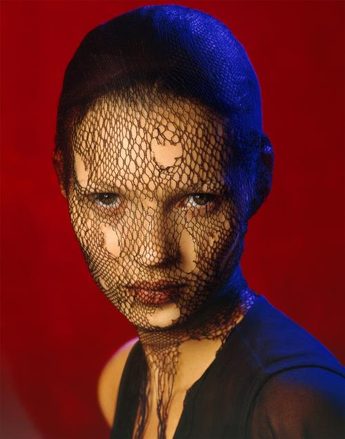 This image made available by Christie's auction house on Wednesday July 3, 2013 shows an image of British model Kate Moss, 'Kate Moss in Torn Veil', Marrakech, 1993 by Albert Watson. Few people have been photographed more often than Kate Moss, and some of the most famous images of the supermodel are going under the hammer at a Christie's auction in London on Sept. 25. (AP Photo/Christie's)
