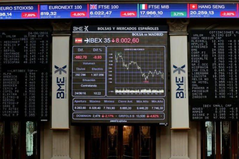 Saham Spanyol turun lagi, Indeks IBEX 35 merosot 0,16 persen