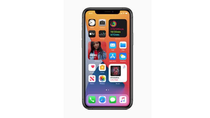 Tampilan iOS 14 yang baru diluncurkan oleh Apple. (Doc. Apple)