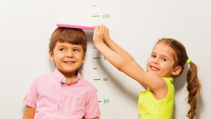 Ilustrasi tinggi badan anak. (sumber: iStockphoto)