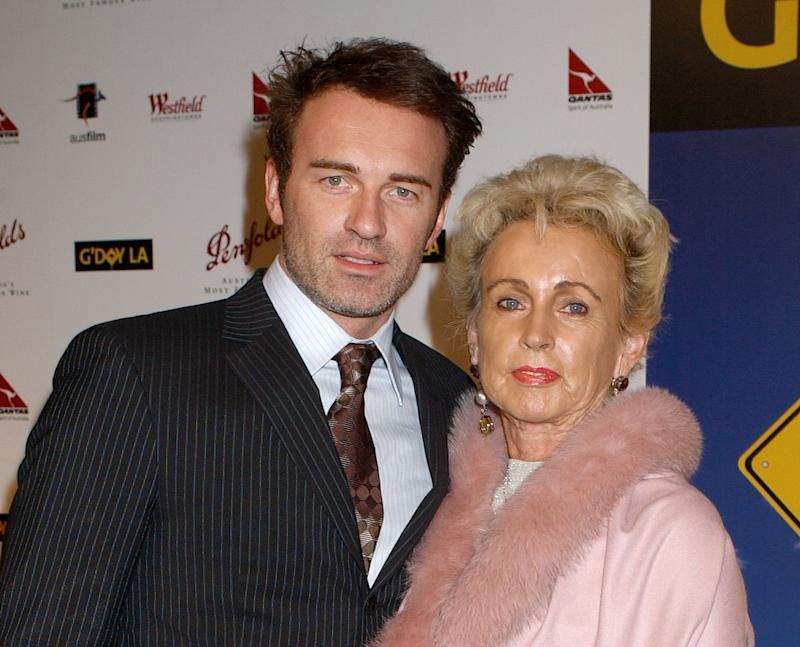 Julian McMahon and mom Lady Sonia McMahon during 2nd Annual Penfolds Gala Black Tie Dinner - Arrivals at Century Plaza Hotel in Century City, California, United States. (Photo by Gregg DeGuire/WireImage)