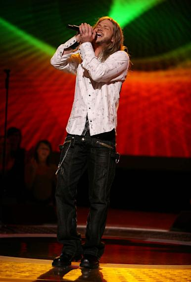 Robbie Carrico performs as one of the top 20 contestants on the 7th season of American Idol.