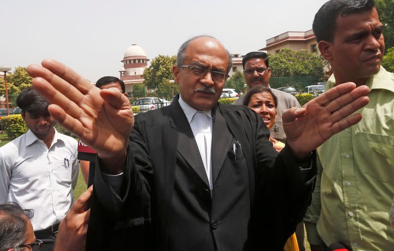 Indian lawyer, convicted by Supreme Court over tweets, faces deadline