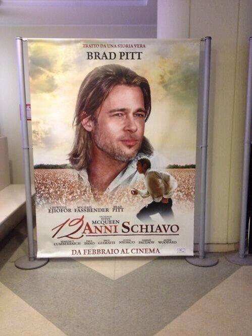 Lionsgate Vows to Recall Italy's '12 Years a Slave' Poster Focusing on Brad Pitt