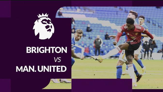 MOTION GRAFIS: Statistik Liga Inggris, Manchester United Kalahkan Brighton dengan 7 Shots