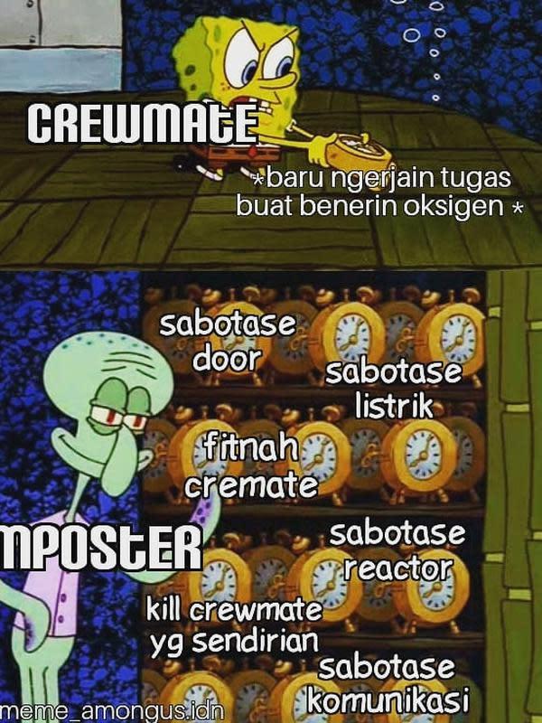 Meme Among Us (Sumber: Instagram/meme_amongus.idn)