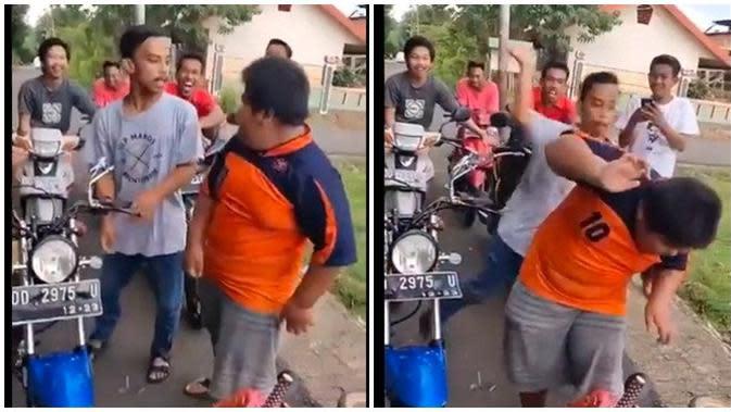 Aksi bullying (Sumber: Twitter/Pakaluru_MKS)