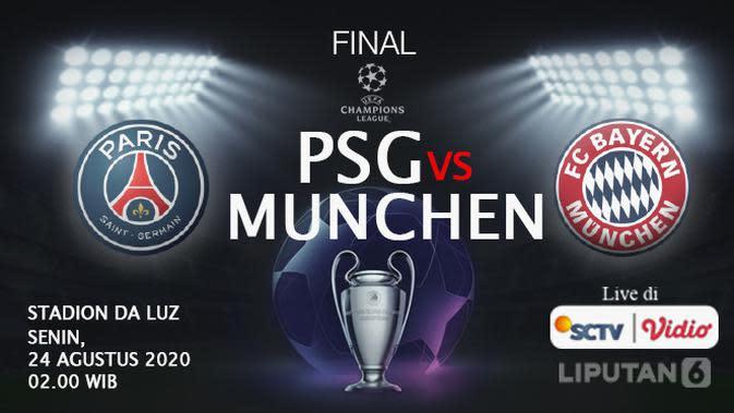 PSG vs Bayern Munchen di final Liga Champions. (Liputan6.com/Abdillah)