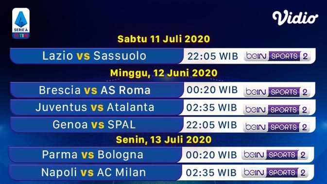 Jadwal Serie A pekan ke-32 di Vidio. (Sumber: Vidio)