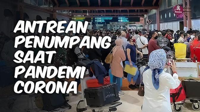 VIDEO TOP 3: Antrean Penumpang di Bandara Saat Pandemi Corona