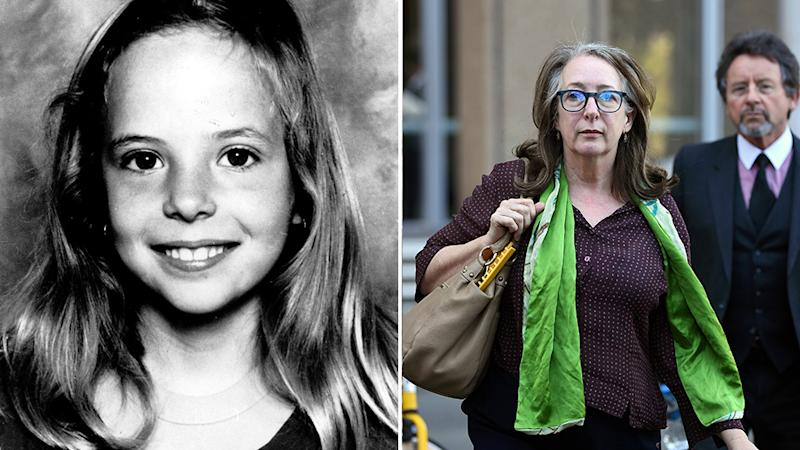 Samantha Knight (pictured left) was murdered in 2001. Her Mum Tess outside the NSW Supreme Court today. Source: AAP.