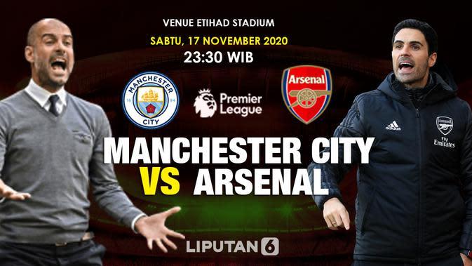 Manchester City vs Arsenal (Liputan6.com/Triyasni)