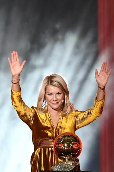 """Hegerberg said winning the Ballon d'Or was """"a historic moment"""""""